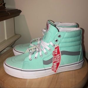 NEVER WORN AQUA HIGH TOP VANS! CUSTOM BUILT!